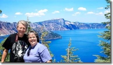 Al and Dotti at Crater Lake