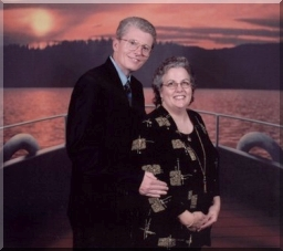 Dot and Al dressed for formal shipboard dinner